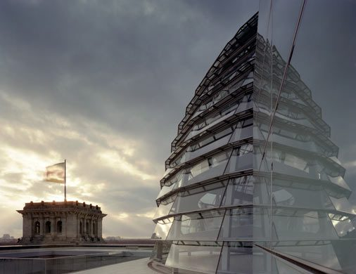 architectural photography dome of reichstag building berlin