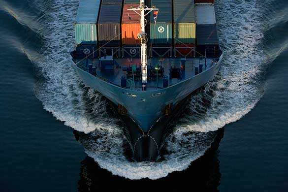Aerial view of a ship`s bow. © Dominik Reipka professional aerial photography Hamburg, Germany